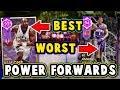 TOP 5 BEST WORST VALUE POWER FORWARDS in NBA 2K18 MyTEAM