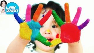 Играем вместе:ПАЛЬЧИКОВЫЕ КРАСКИ.Рисуем красками на бумаге.Видео для детей/Finger paint(В нашем новом видео, Жан с мамой рисуют разноцветными и яркими пальчиковыми красками на огромном,белом..., 2016-04-11T06:48:54.000Z)