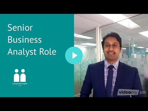 Senior Business Analyst Role