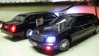 Sun's custom 1:24 Cadillac Presidential Limousines The Beast with working lights