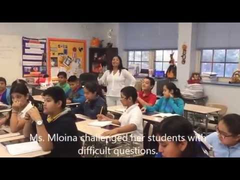 Ms. Irma Molina's 6th grade Math class playing Kahoot!