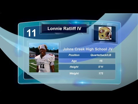 TwinSportsTV: Lonnie Ratliff IV #11 JV Class of 2022 (Johns Creek High School vs.Cambridge)
