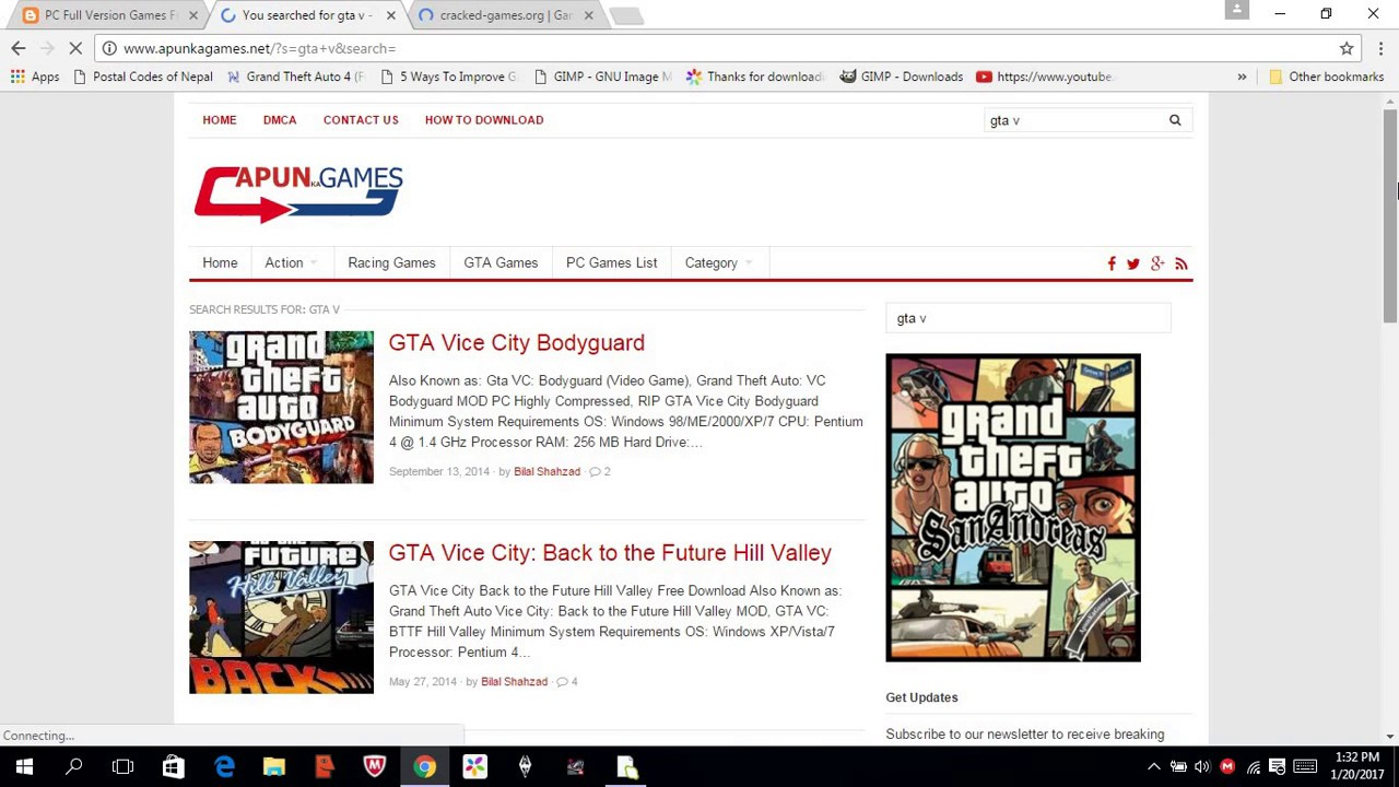 Computer games: a selection of sites