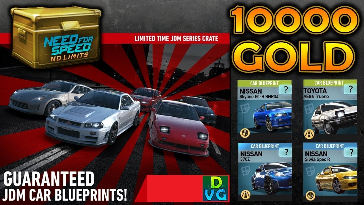 NFS No Limits | Spending 10 000 GOLD on JDM Limited-Time Crates !!!