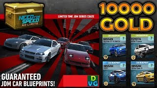 NFS No Limits |  Spending 10.000 GOLD on JDM Limited-Time Crates !!!