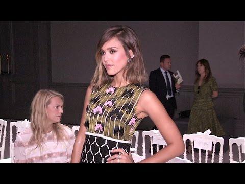 Jessica Alba at Giambattista Valli Haute Coute Fashion Show in Paris