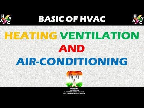 Basics of HVAC - (Heating Ventilation and Air Conditioning) - Hindi Version.