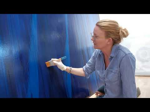 Laurel Holloman installation  with John Wilson 1