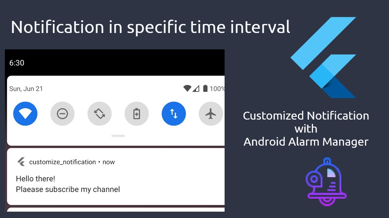 Flutter Tutorial - Customized Local Notification - Notification in Specific Time Interval