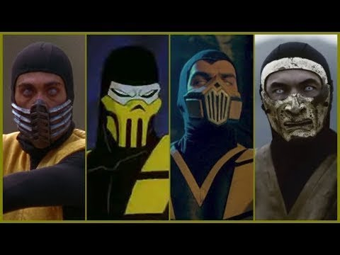 MK's Scorpion Evolution In Movies And Cartoons (2018)