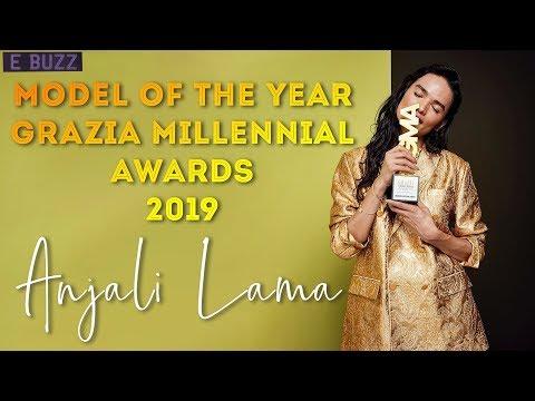 ANJALI LAMA  MODEL OF THE YEAR AT GRAZIA MILLENNIAL AWARDS 2019   E-BUZZ   YOHO TV HD Mp3