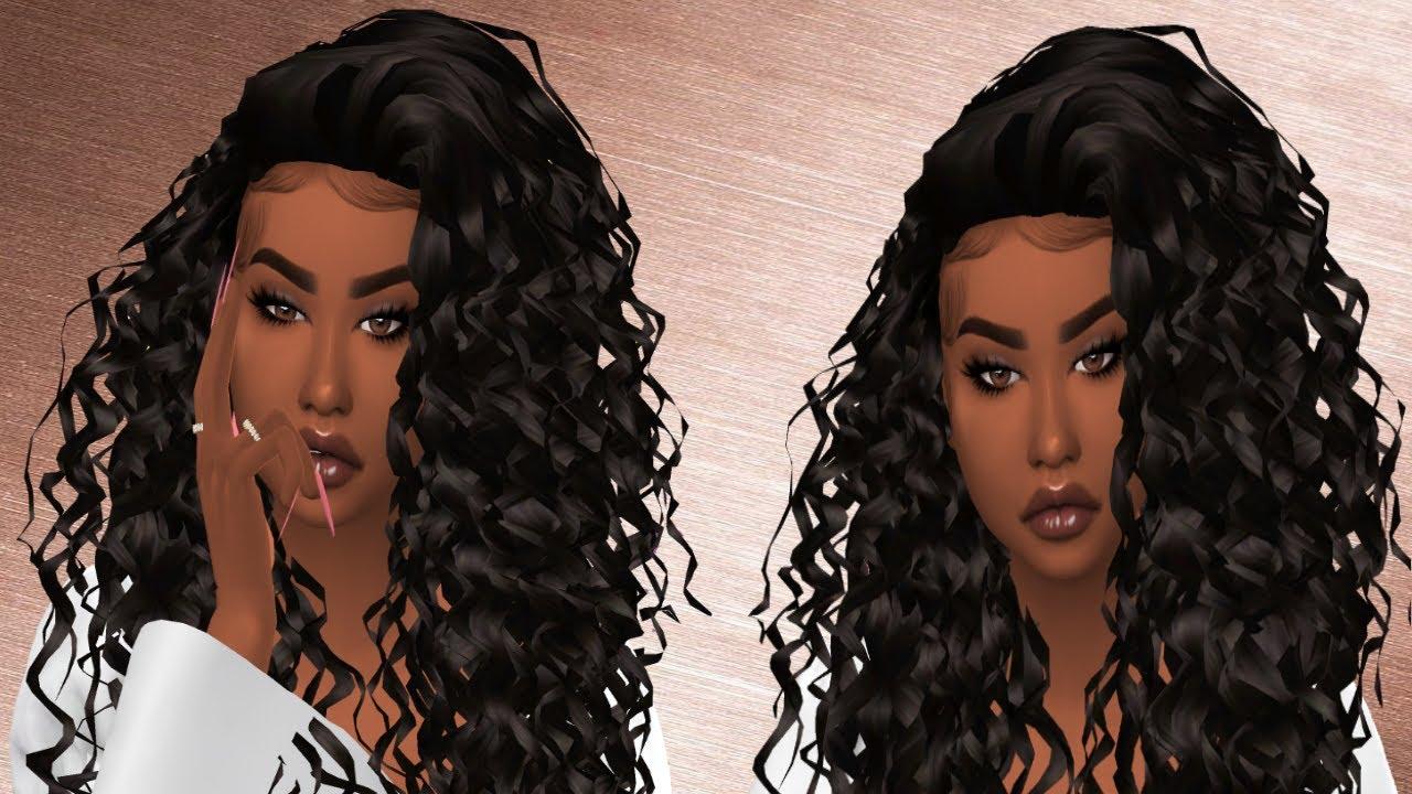 The Sims 4: Curly Hair   CC LINKS YouTube
