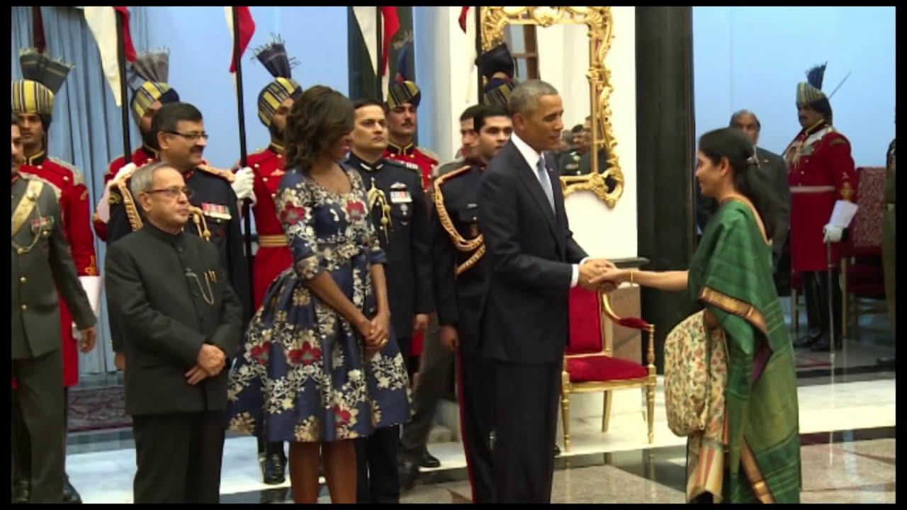 Download President Mukherjee welcomes President Obama at Rashtrapati Bhavan