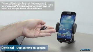 MULTI ANGLE iPhone, Galaxy S5, or Android Smartphone Adhesive or Screw Mount Dock | Arkon SM428