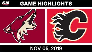 NHL Highlights | Coyotes Vs. Flames – Nov. 5, 2019