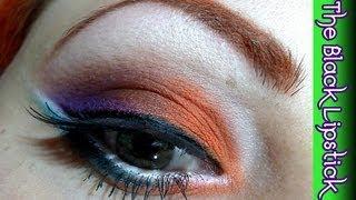 Makeup tutorial trucco Arancio e viola!