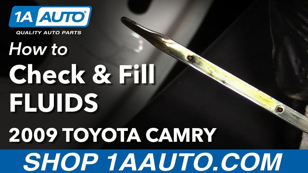 hight resolution of how to check and fill under hood fluids 06 11 toyota camry