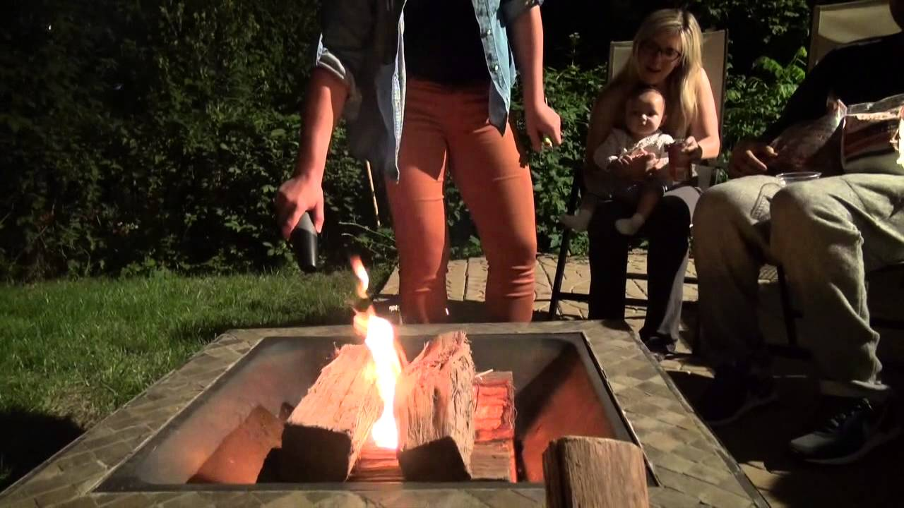 How To Start A Fire In Pit Under Minute With Fiair Er And Stump Chunks
