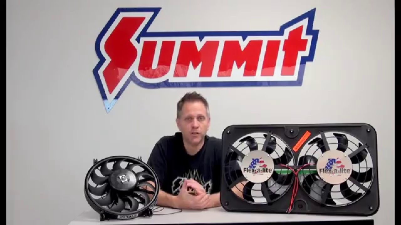 small resolution of pusher fans puller fans or reversible electric fans summit racing quick flicks youtube