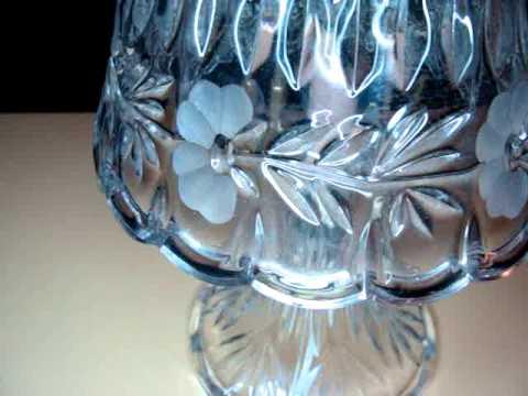 Elegant Ireland Vintage Lead Crystal Table Lamp With Glass