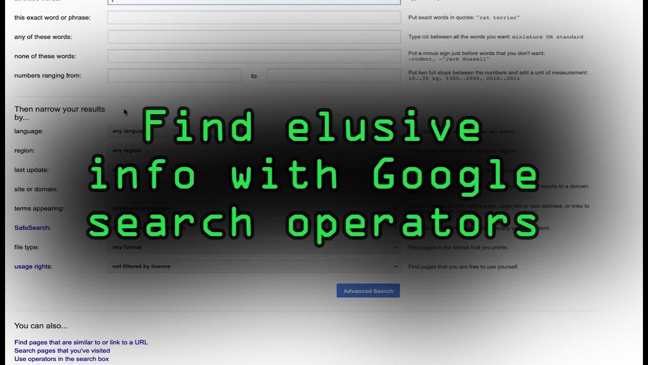 Google Search Like a Hacker [Tutorial]
