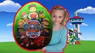 Распаковка шоколадное яйцо Щенячий патруль Видео для детей
