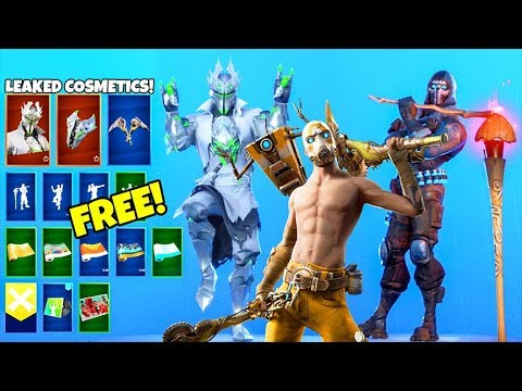 *NEW* Skins & Emotes..! (FREE Rewards, Borderlands, White Knight LEAKED) Fortnite Battle Royale