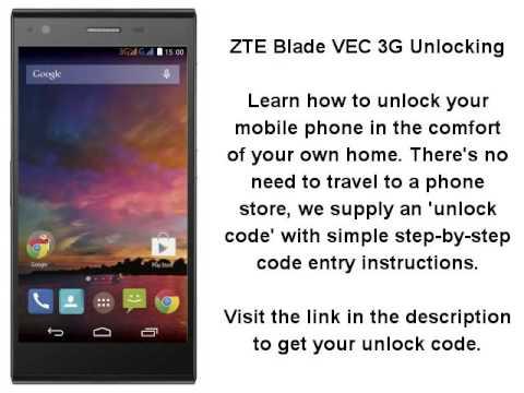Unlock ZTE Blade Vec 3G By Unlock Code