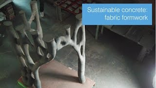Making concrete more sustainable: fabric formwork