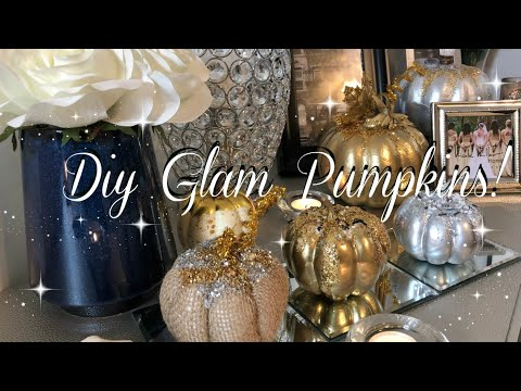 DIY GLAM Pumpkins! | EASY FALL DECOR! DOLLAR TREE, Z GALLERY INSPIRED, AND AFFORDABLE!