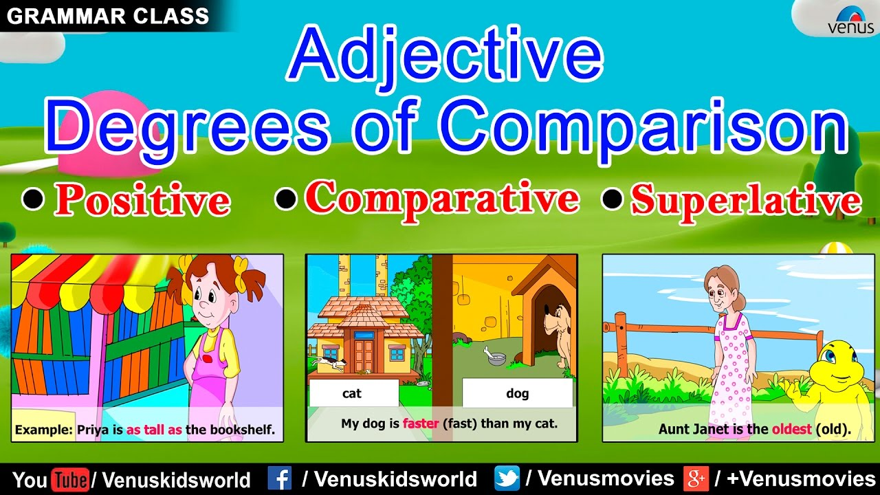 Grammar class adjective degrees of comparison also youtube rh