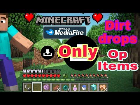 Minecraft but dirt drops op items mod download in minecraft bedrock& pocket edition #kartgameryt
