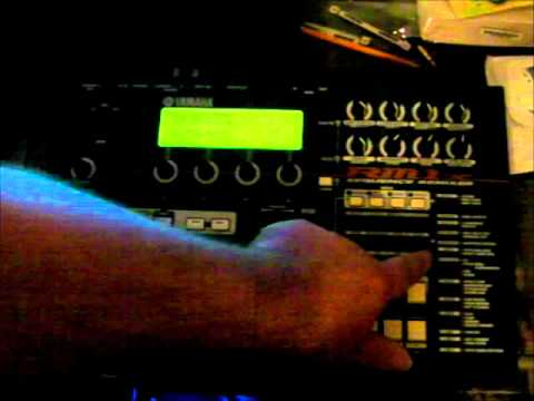 Yamaha RM1x Sequence Remixer groovebox diagnostic test mode