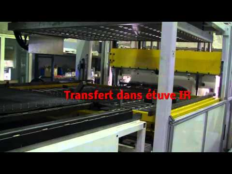 Thermoforming production line (automotive carpets)