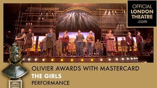 Gary Barlow and the cast of The Girls perform at the Olivier Awards 2017 with Mastercard