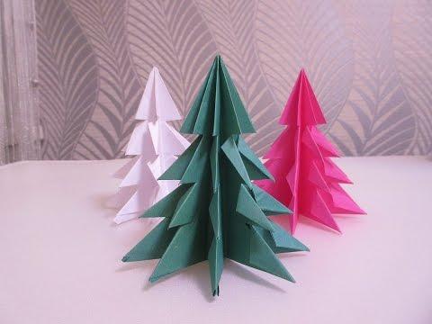Оригами Елка (Новогодние оригами) - origami Christmas tree