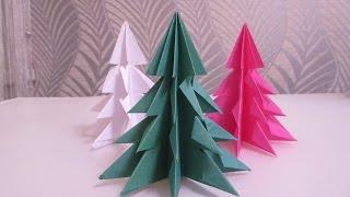 Оригами Елка!! (Новогодние оригами) - origami Christmas tree(Ребята, купил классную бумагу для Оригами рекомендую!!! вот ссылка на продавца https://goo.gl/4b5LAk origami Christmas tree..., 2014-12-03T14:33:46.000Z)