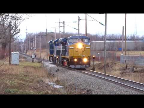 CSX 7786 and CSX 7787 8-40CWMs GE Test Track high speed test.