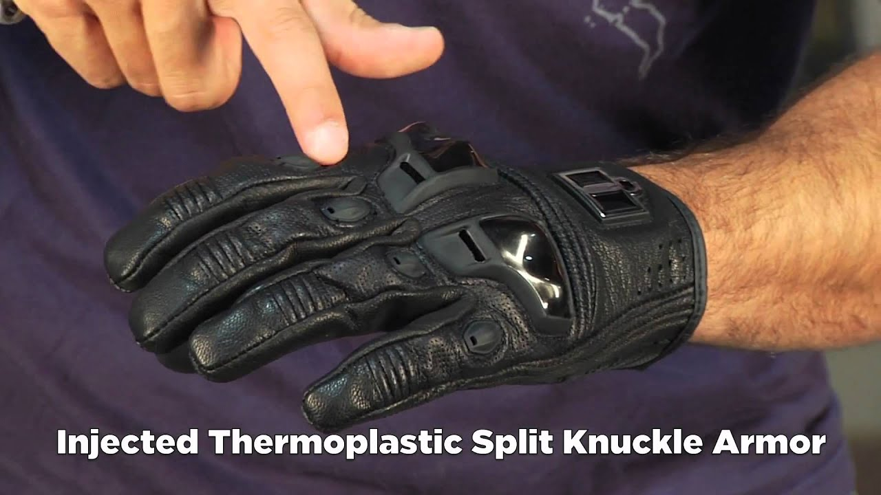 Icon justice leather motorcycle gloves - Icon Justice Touchscreen Gloves With Touchtec Review At Revzilla Com Mp4