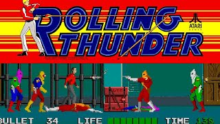 1986 Rolling Thunder (Arcade) Game Playthrough Video Game