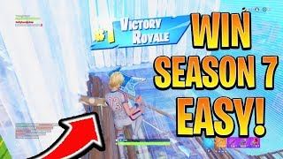 How to Win FIRST GAME in Season 7 Fortnite! Season 7 Best Tips and Tricks! (Fortnite Battle Royale)