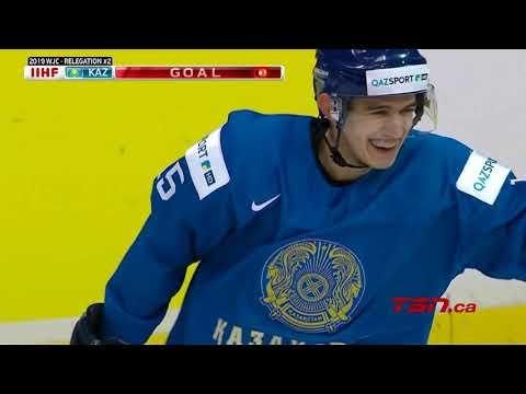 2019 IIHF World Junior Championship Highlights: Kazakhstan - Denmark / Relegation round GAME #2