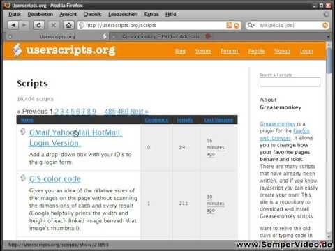 Firefox Add-on Greasemonkey (Teil 1 von 2) Part 2