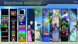 Mario Kart 8 Rainbow Road Mashup/Mix - Across Generations [8 Themes In One]