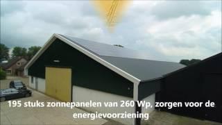 Energieplusdak in uitvoering te Zeewolde