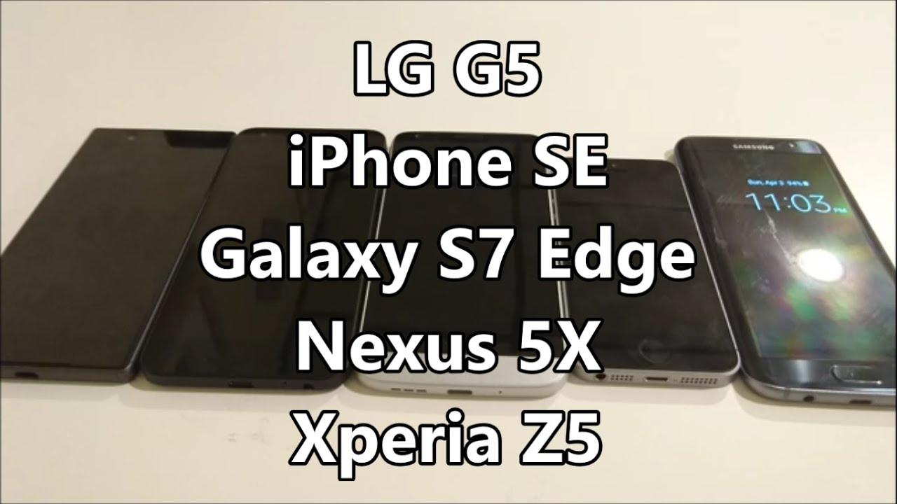 APPLE IPHONE SE VS LG G5