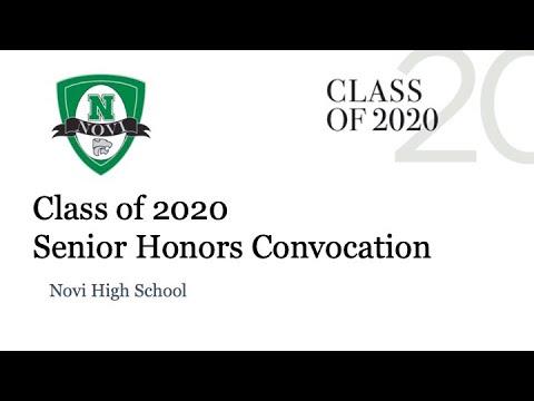 Novi High School Class of 2020 Senior Honors Convocation