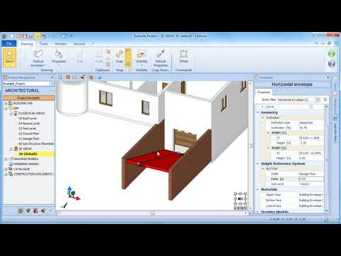Edificius Tutorial - Tilting the horizontal building envelope entity (slab) - ACCA software