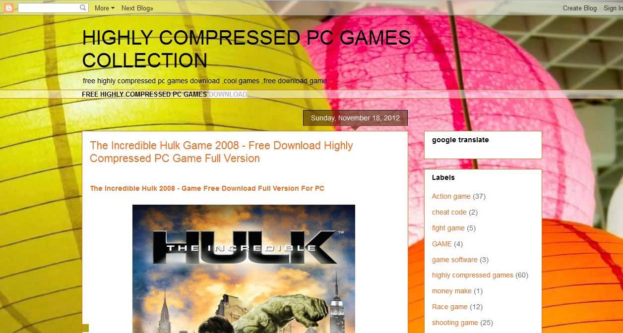 Highly Compressed Pc Games Rar