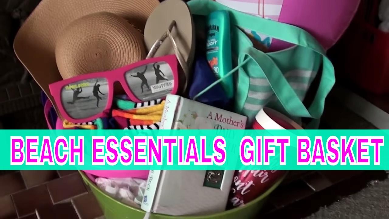 beach essentials gift basket | tricky tray | graduation | birthday